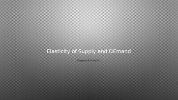 Elasticity of Supply and Demand
