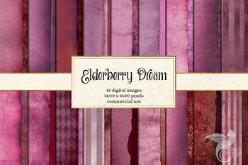 Elderberry Dream Textures Digital Paper