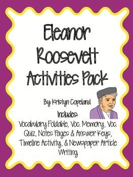 Eleanor Roosevelt Activities Pack
