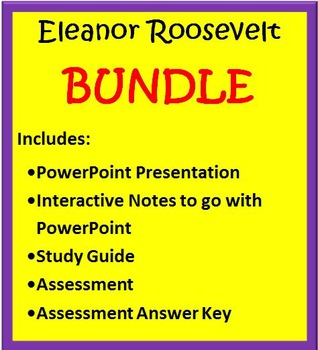 Eleanor Roosevelt BUNDLE- 3rd Grade Social Studies