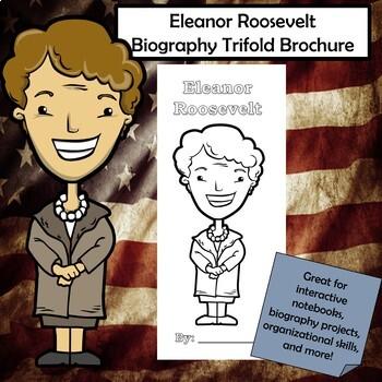 Eleanor Roosevelt Biography Trifold Brochure