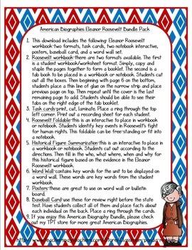 Eleanor Roosevelt Bundle Pack (Task Cards Included)