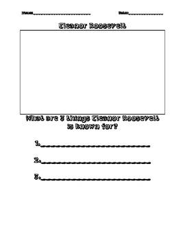 Eleanor Roosevelt Fact Sheet Activity