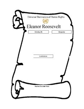 Eleanor Roosevelt Graphic Organizer and Rubric