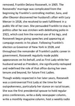 Eleanor Roosevelt Handout