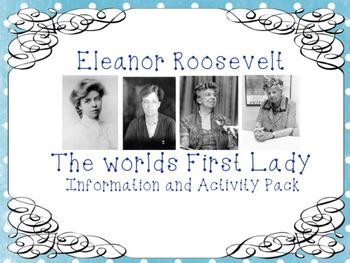 Eleanor Roosevelt Information and Activity Bundle