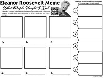 Eleanor Roosevelt Meme Activity