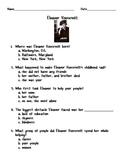 Eleanor Roosevelt Quiz/Worksheet