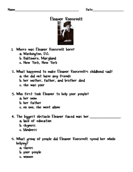 Eleanor roosevelt worksheets adriaticatoursrl for Mary mcleod bethune free coloring pages