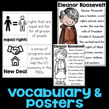 Eleanor Roosevelt Reading Passage, Biography Report, & Comprehension Activities
