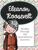 Eleanor Roosevelt Reading Passages and Comprehension Questions