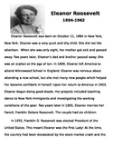Eleanor Roosevelt Reading Passage and Timeline