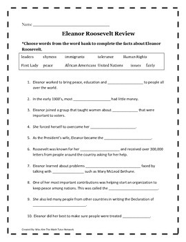 Eleanor Roosevelt Review