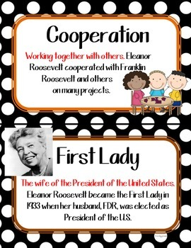 Eleanor Roosevelt BUNDLE Social Studies 2 Game Set + more