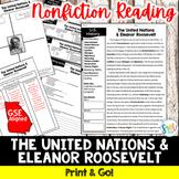 Eleanor Roosevelt & The U.N. Reading & Writing Activity (S