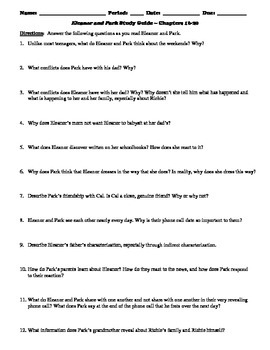 Eleanor and Park Study Guide