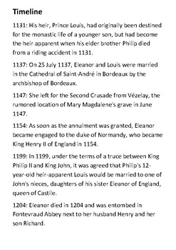 Eleanor of Aquitaine Handout