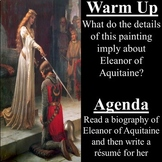 Eleanor of Aquitaine Biography and Resume Writing Activity