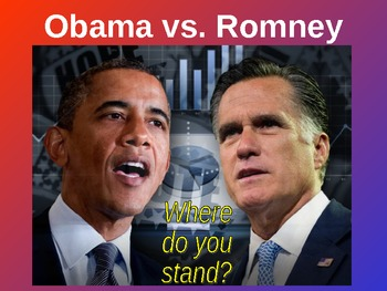 Election 2012 Obama vs. Romney Powerpoint on the Issues