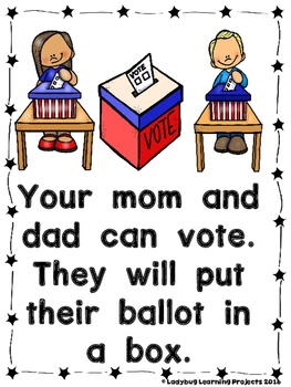 Election 2016  (A Sight Word Emergent Reader and Teacher Lap Book)