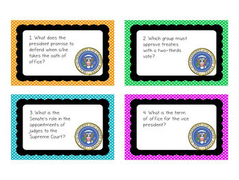 Executive Branch Activity: Task Cards