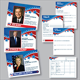 Election 2016 Candidate Posters and Worksheets