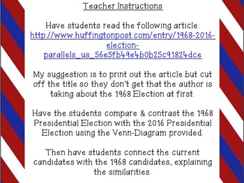Election 2016 Comparison to 1968