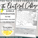 Election Electoral College Explained w/ Coloring Map & Comprehension ?'s