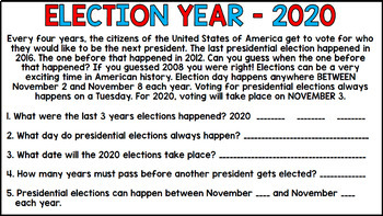 Election 2016 - Hillary Clinton and Donald Trump - Special Education - BUNDLE