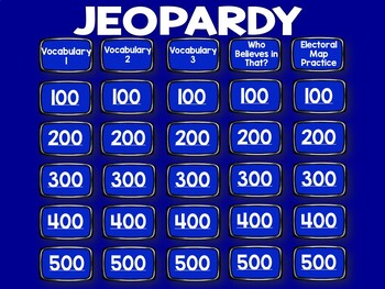 Election 2016 Jeopardy - Hillary Clinton + Donald Trump: Unit 3 Jeopardy