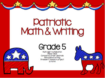 Election 2016 Math & Writing Grade 5