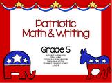 Patriotic Math & Writing Grade 5