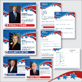 Election 2016 Republican vs. Democrat Candidate Posters an