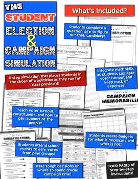 Election 2016! Class President Election & Campaign Simulation! Fun & Authentic!