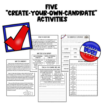 United States Election Literacy and Social Studies Activities {BUNDLE}