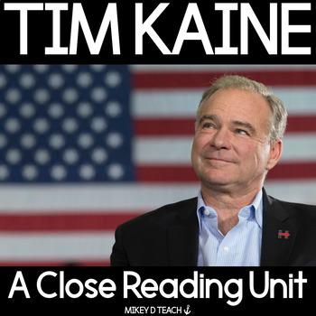 Tim Kaine Close Reading Activities