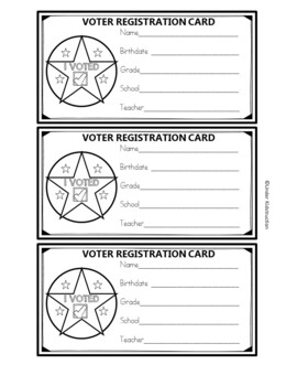 Election 2016;Voter's Registration Cards, Presidential Ballots, I Vote Stickers