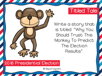Election 2016 Writing Prompts | Writing Stations | Presidential Election 2016