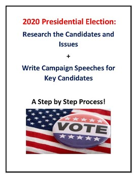 Election 2020 Campaign Speech Writing Activity