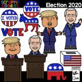 Election 2020 Clipart {Scrappin Doodles Clip Art}
