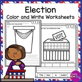 Election 2020 Color Trace and Write Sentences