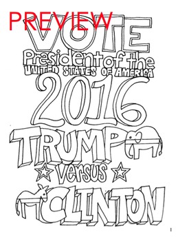 Election Coloring Page