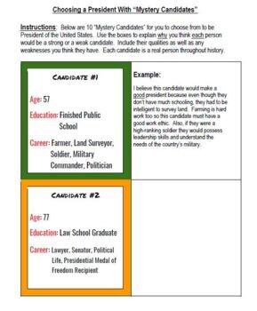 Election 3-Pack: Electoral College, Voting with Mystery Candidates, & Word Wall