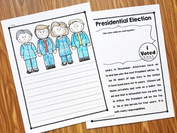 Election 2016:  Election Activities For Kindergarten