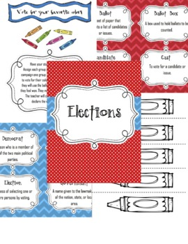 Election Activities Smart Board Voting, Vocab, Graph, Prompts + More!