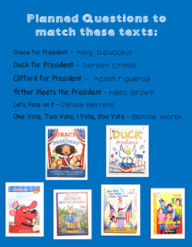 Election Activities - voting, read aloud, writing