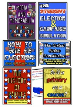 Presidential Election Bundle! 7 Resources for Elections, Primaries, Campaigns!