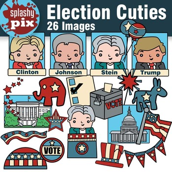 Election Cuties Clipart