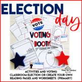 Election Day | Classroom Election | Worksheets | Primary Grades