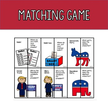 Election Day 2016 for Speech & Language Therapy - Younger Elementary FREE